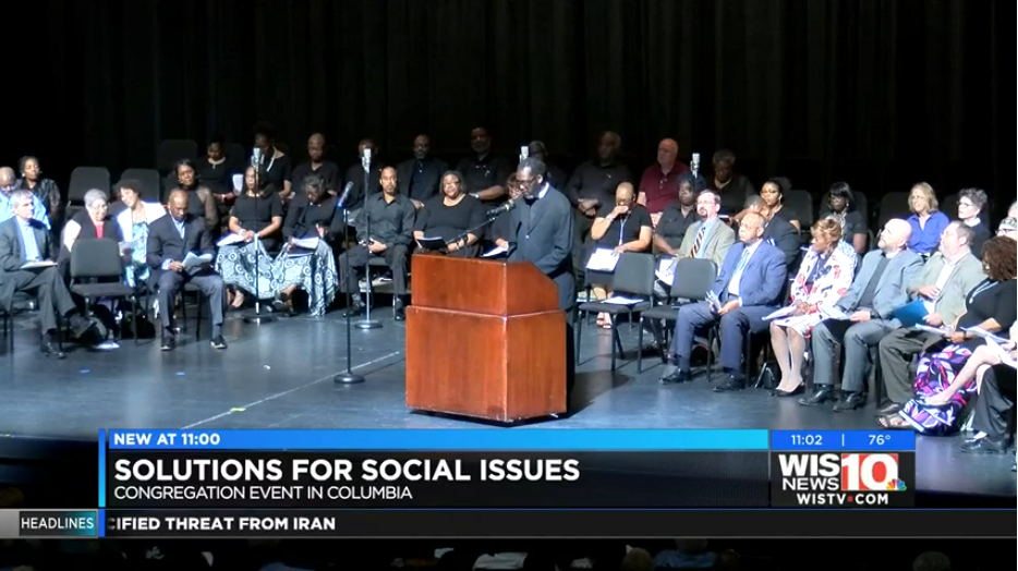 Dozens of congregations around the Midlands address social issues at event