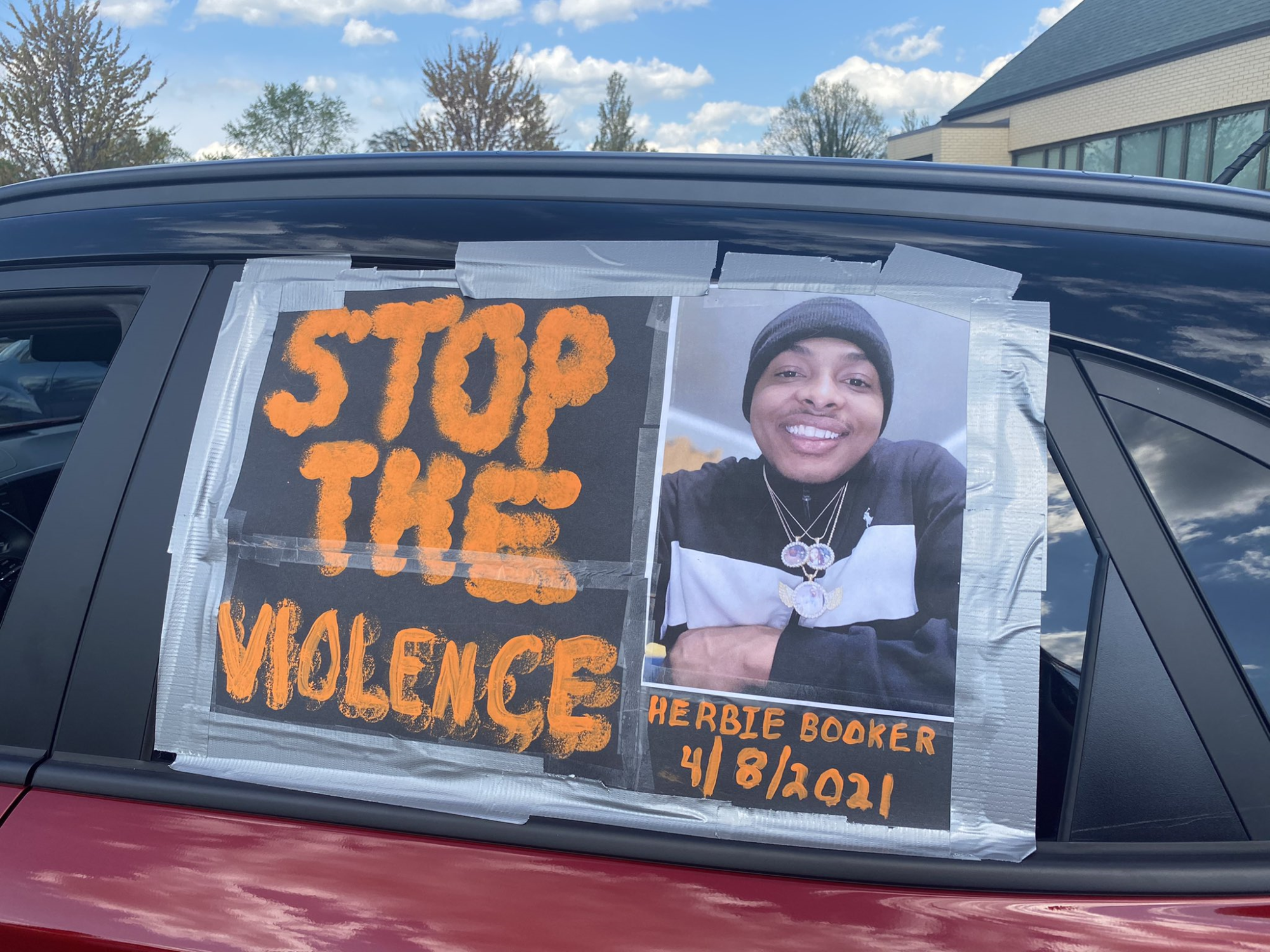 'Stop the Violence' drive-in rally and hearse processional Tuesday
